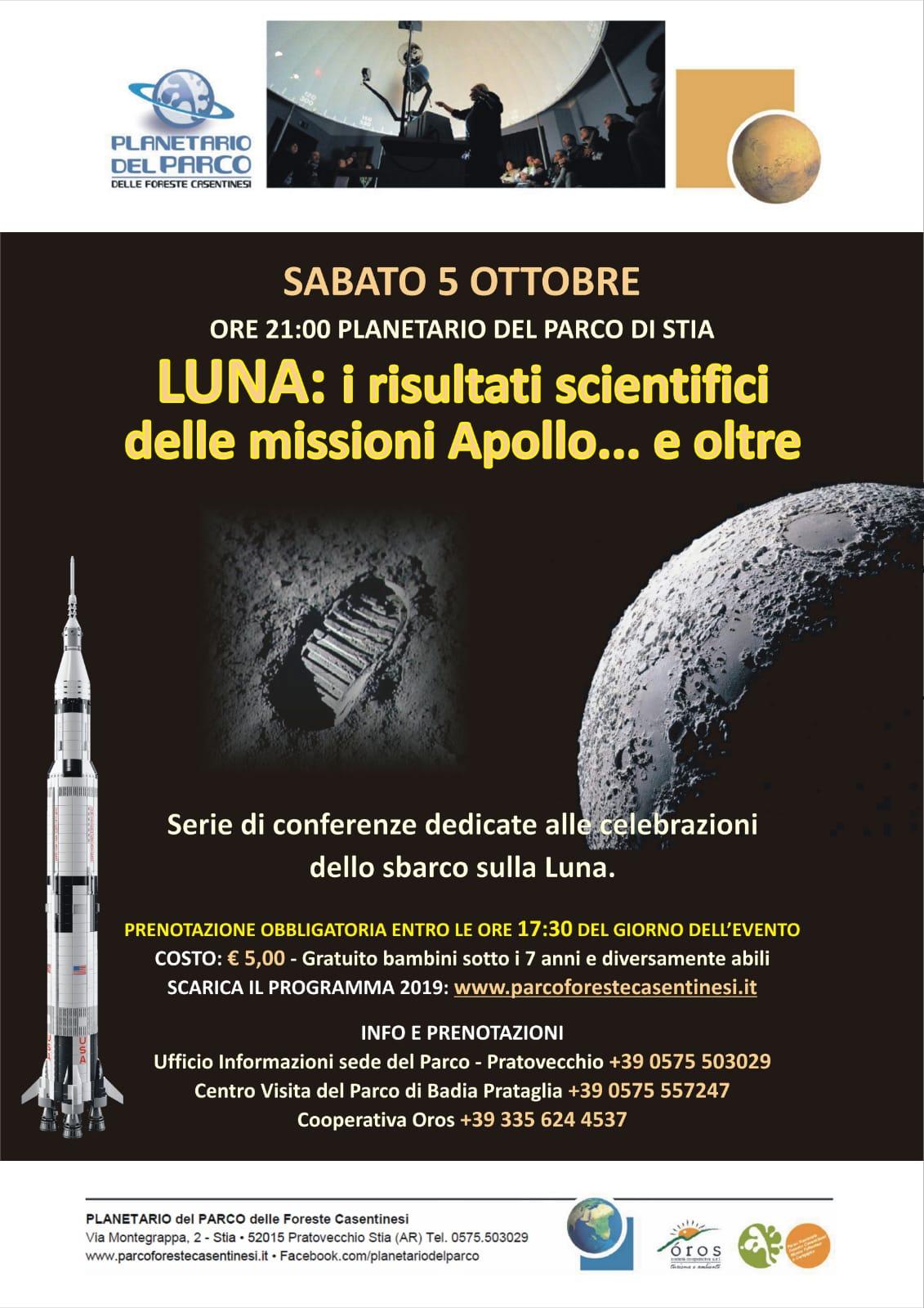 50 anni delle Missioni Apollo