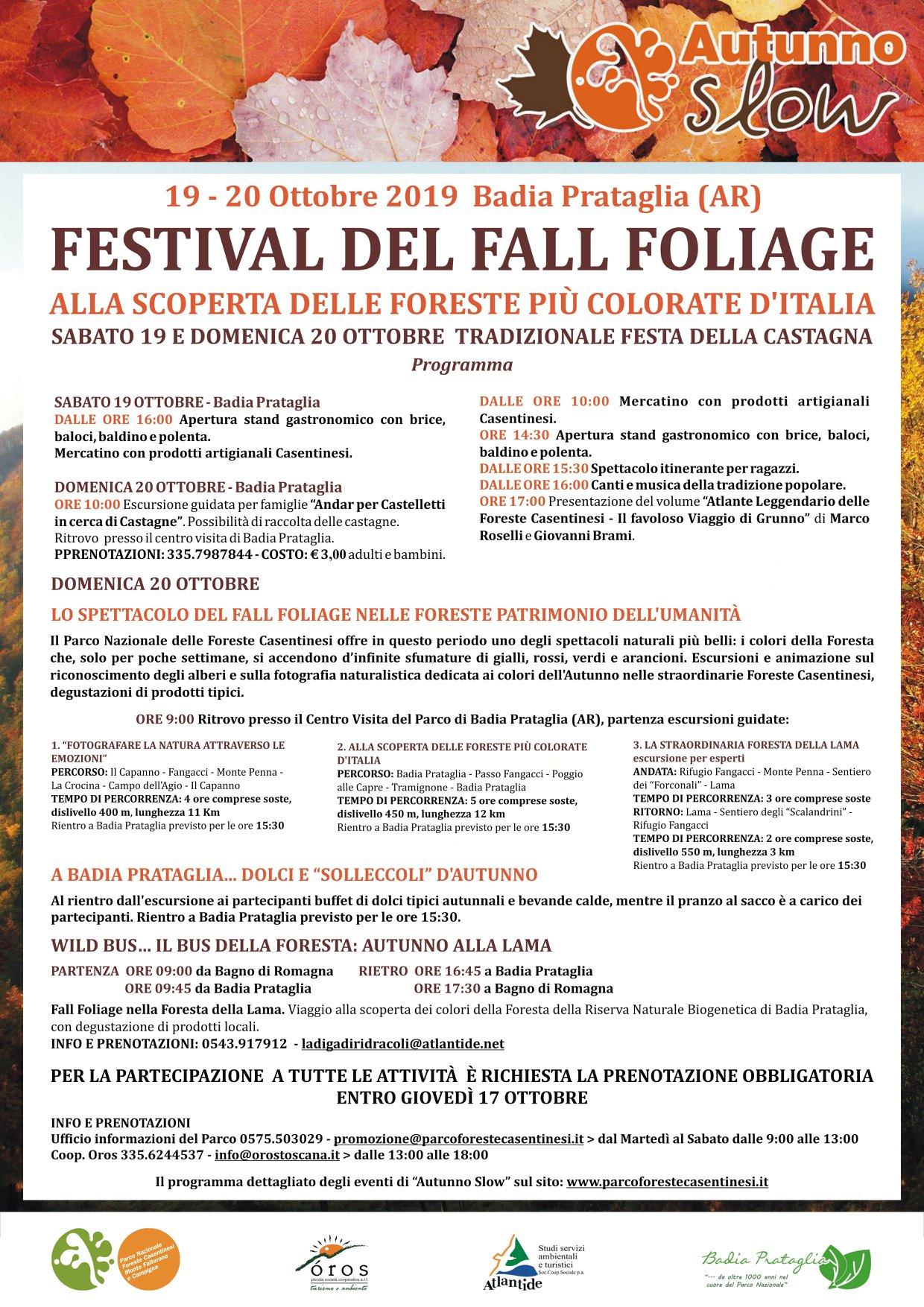 Festival del Fall Foliage 2019 a Badia Prataglia